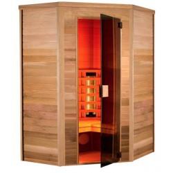 De sauna infrarrojo Multiwave 130-3 plazas angular Holl