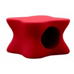 Mesa de centro de empuxo de Mesa vermelho macio