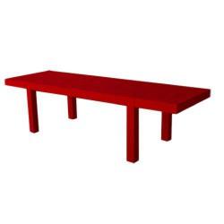 Jut Mesa 280 mesa Retangular vermelho de empuxo