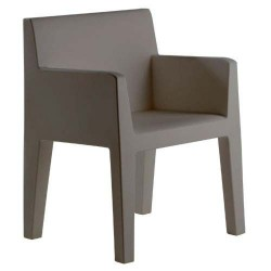 Jut solco sedia Vondom grigio
