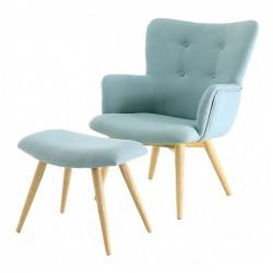 كرسي خمر النسيج ومسند الزرقاء كوسيفورم