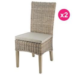 مجموعة من الكراسي 2 في القدمين نصف الملون خشب الساج كوبو لين كوسيفورم