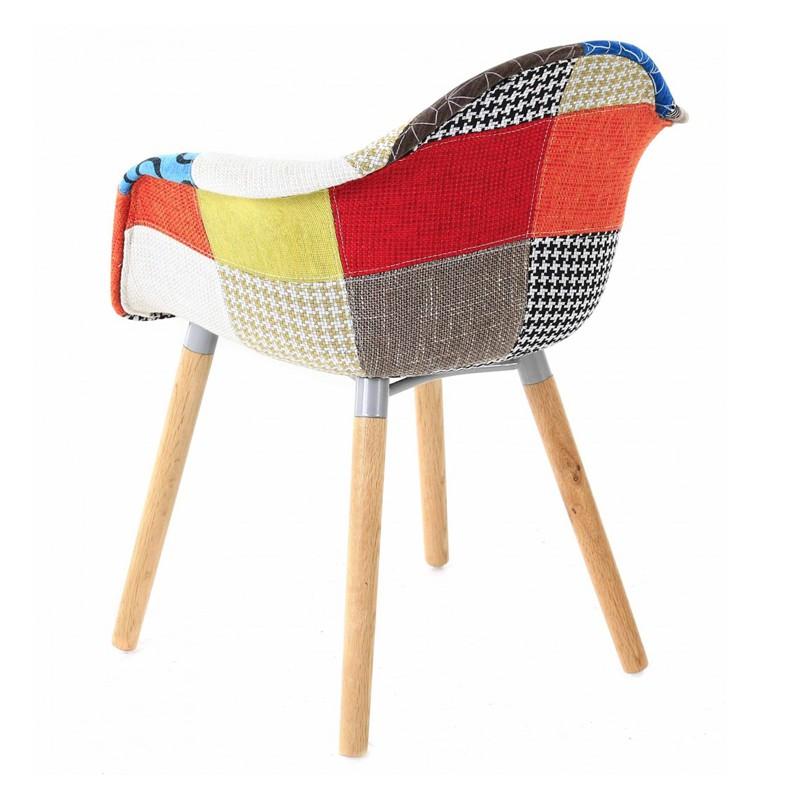 Set di 4 sedie Design multicolor Patchwork KosyForm