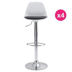 Set of 4 white KosyForm Bar stools