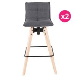 """مجموعة من الكراسي جلدي رمادي """"كوسيفورم بار"""" 2"""