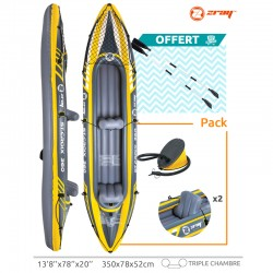 Canoe inflatable Zray KAYAK ST cross with 2 paddles