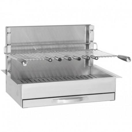 Gril Inox Encastrable Forge Adour 961-66 Dimension 66 x 45 x 46 cm