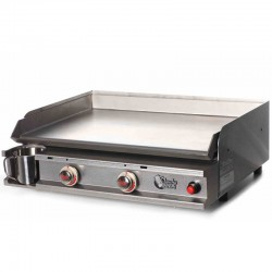 Plancha Tonio 2 lights box and plate stainless steel gas