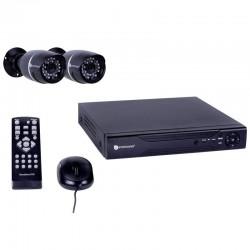 Vidéosurveillance Filaire avec Enregistreur 4 Canaux Livré avec 2 Caméras Extérieures Smartwares