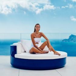 ULM Vondom DayBed Sofa Blue Laqué Sunbathing
