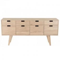 Sideboard in oak 4 doors 4 drawers Puper KosyForm