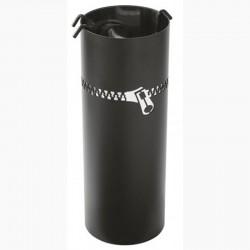Serviteur Eclair Noir Givré-Inox avec Accessoires Noirs Dixneuf Design