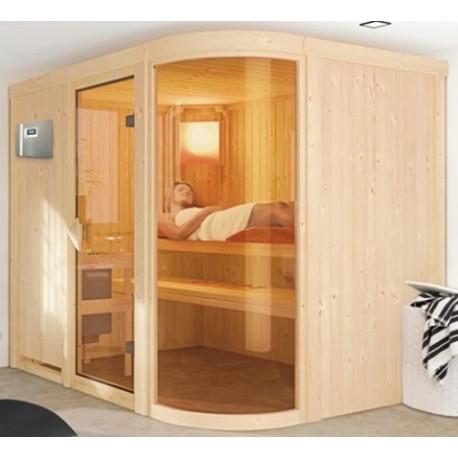 Steam sauna angular traditional Finnish 2-4 places Ulla Prestige - exclusive VerySpas
