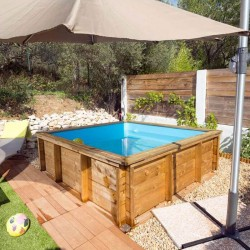 Piscinette Procopi in wood Tropic Junior 200 x 200 cm
