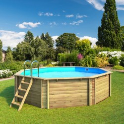 Swimming pool in wood above ground Tropic 505 Octagon BWT myPOOL