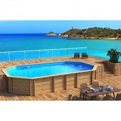 Pool wood WEVA Octogonale + 640 x 404 x h133 BWT Mypoolpool wood WEVA Octogonale + 640 x 404 x h133 BWT myPOOL