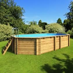 Pool wood above ground TROPIC octagonal + 523 x 313 BWT myPOOL