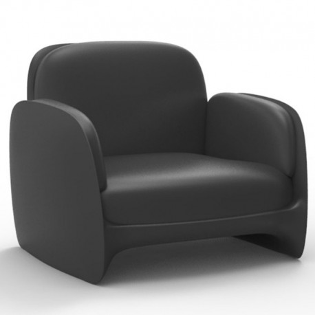 Armchair Vondom lounge Pezzettina anthracite Matt