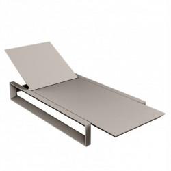 Liegerer Rahmen lange Stuhl Vondom taupe Matt