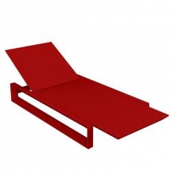 Deckstuhl langer Rahmen Vondom rote Matte