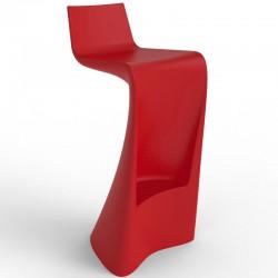 Wing Vondom bar stool red Matt