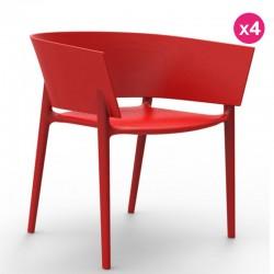 4つの椅子のセット Vondom の設計アフリカの赤