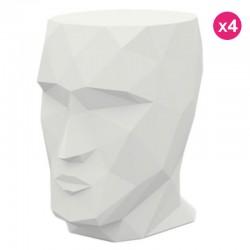Conjunto de 4 Tabourets Adan Vondom branco