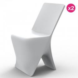 Juego de 2 sillas VONDOM diseño Sloo blanco