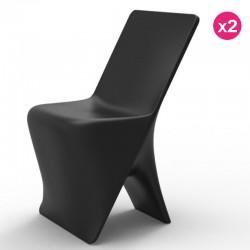 2椅子のセット Vondom デザインスロブラック