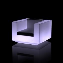 Vondom Vela white illuminated armchair with LED