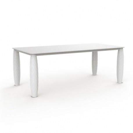 Table Vondom Vases Rectangulaire 210cm Blanc Mat