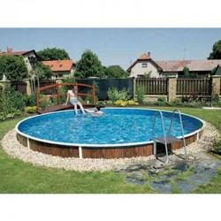 Round Pool Azuro PoolMarina Luxury Freestanding or Buried 5.5x1.20