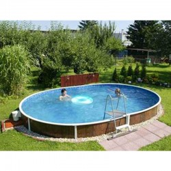 Oval Pool Azuro Luxury PoolMarina Freestanding or Buried 5.5x3.7x1.2