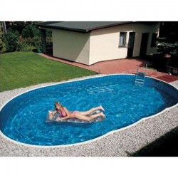 Oval Pool Azuro Luxe PoolMarina Freestanding or Buried 7.3x3.7x1.2