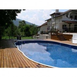 Oval Pool Azuro Luxury PoolMarina Freestanding or Buried 9.1x4.6x1.2