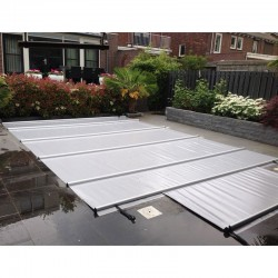 Couverture à barres de piscine CBE-650 8x4 gris