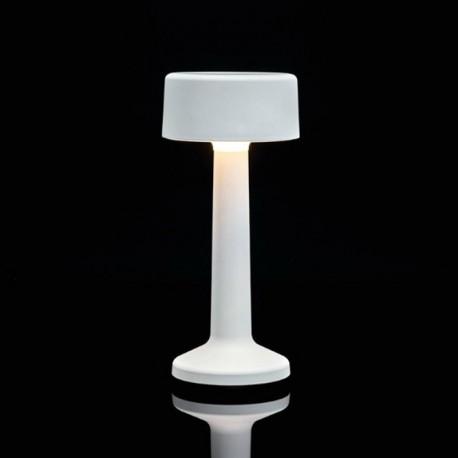 Luminaire de Table Imagilights Led Sans Fil Collection Moments Blanc Cylindre