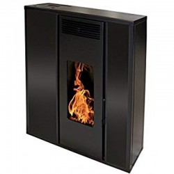 10Kw Etanche Interstoves Black Pellet Stove