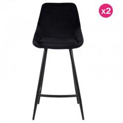 Viele 2 Stühle Arbeitsplan schwarz samt und Metall Kari KosyForm