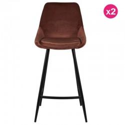 Viele 2 Stühle Arbeitsplan samt braun und Metall Kari KosyForm