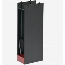 Serviteur Icar Noir Socle Rouge Dixneuf Design