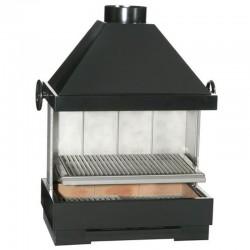 BarBecue Ferlux para pose ou tijolos refratários e aço com hotte