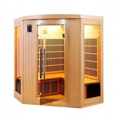 Infrared Sauna Apollon Quartz 3 to 4-seater France Sauna