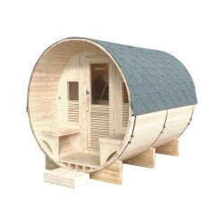 Gaïa Luna 6-seater outdoor sauna Holl's with Harvia stove 8 kW