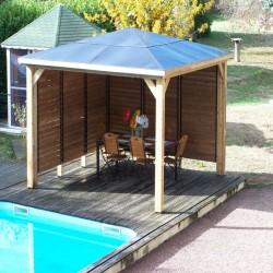 Blueterm wooden garden kiosk 12.32 m2 with 2 Habrita Walls