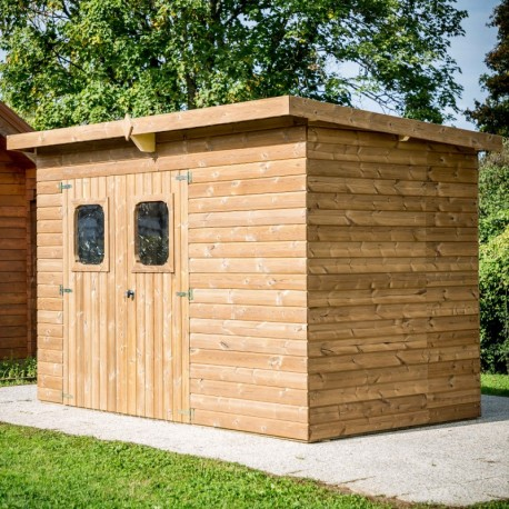 Garden Shelter Solid Wood Habrita 6.45 m2 and Steel Roof