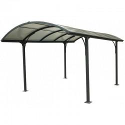 Carport 1 car 3.05x4.85m aluminum and polycarbonate 6mm ANTI-UV Habrita