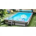 Pool Holz Zodiac Azteck rechteckig Außenboden 305 x 365