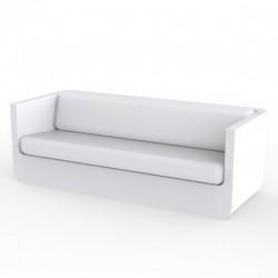 Canapé Vondom Ulm sofa avec coussins blanc