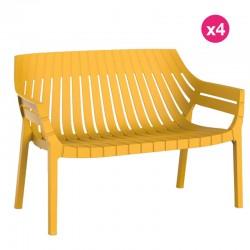 Lot de 4 sofas Vondom Spritz jaune moutarde